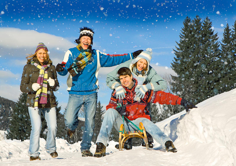Download Winter fun 10 stock photo. Image of sledge, lucky, healthy - 10163462