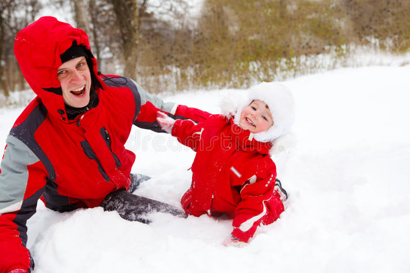 Download Winter fun stock image. Image of clothing, male, laughing - 12358313