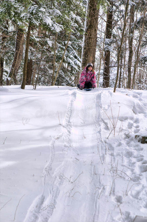 Download Winter fun stock photo. Image of sledding, outdoors, child - 18765552