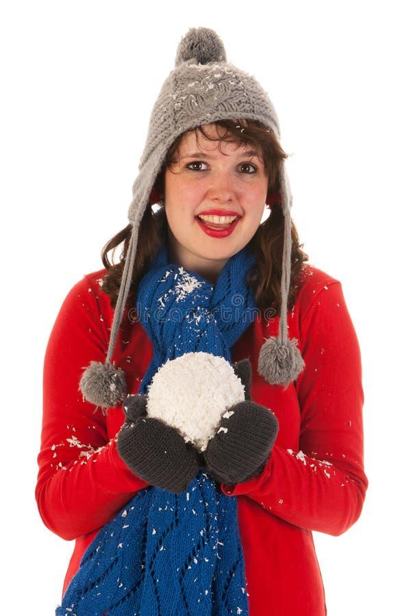 Download Winter fun stock photo. Image of white, studio, girl - 26149636