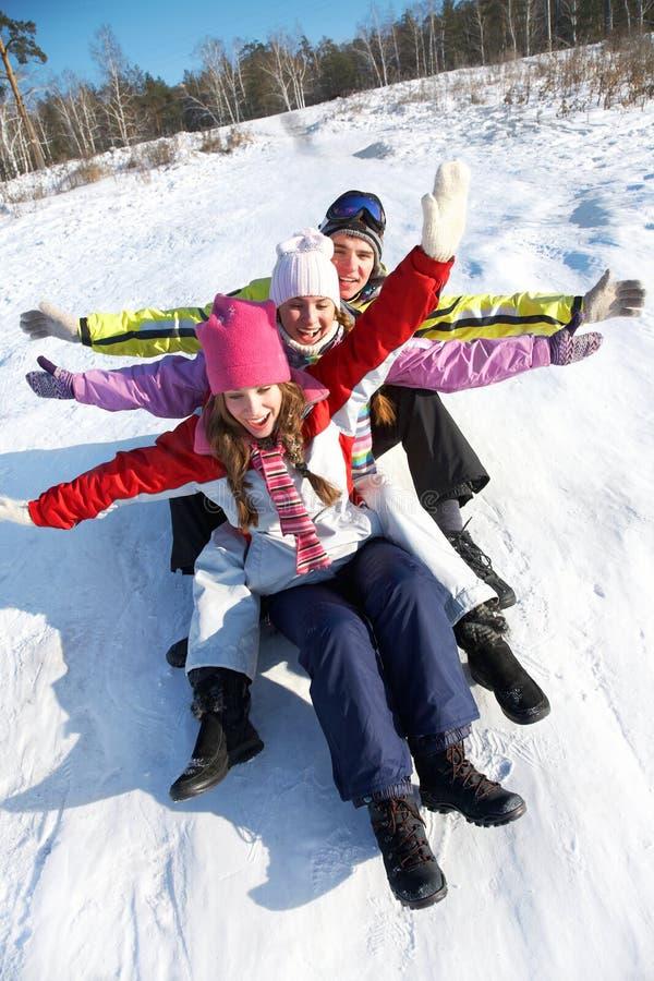 Winter fun stock image