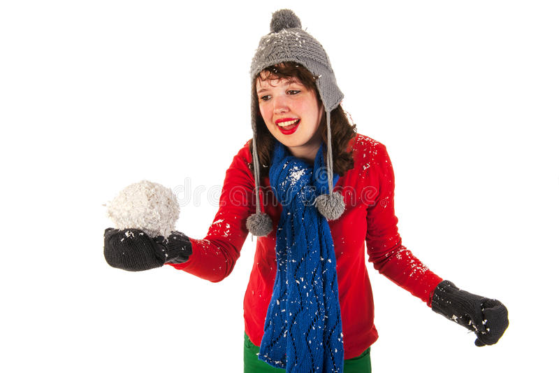 Download Winter fun stock image. Image of ball, young, portrait - 27819865