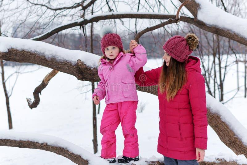 Winter fun family royalty free stock photos