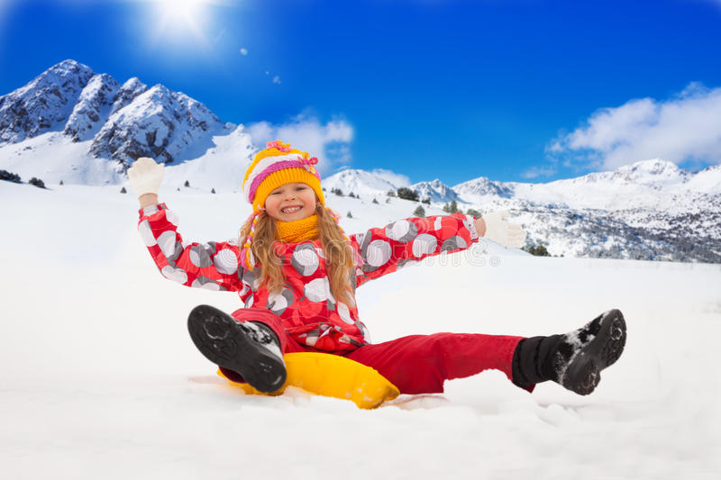 Winter fun vacation royalty free stock image