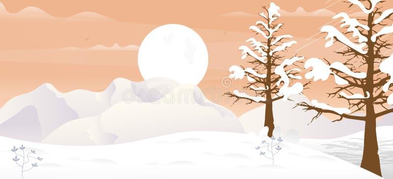 Winter Game Background stock illustration