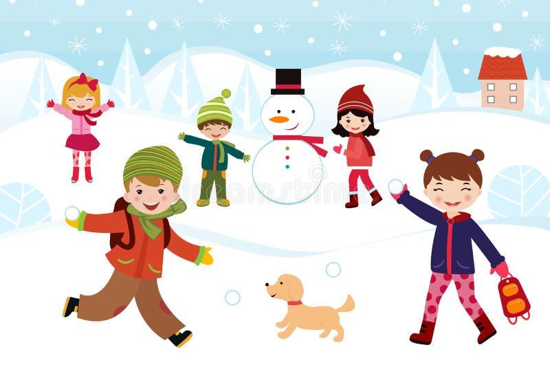 Winter games royalty free illustration