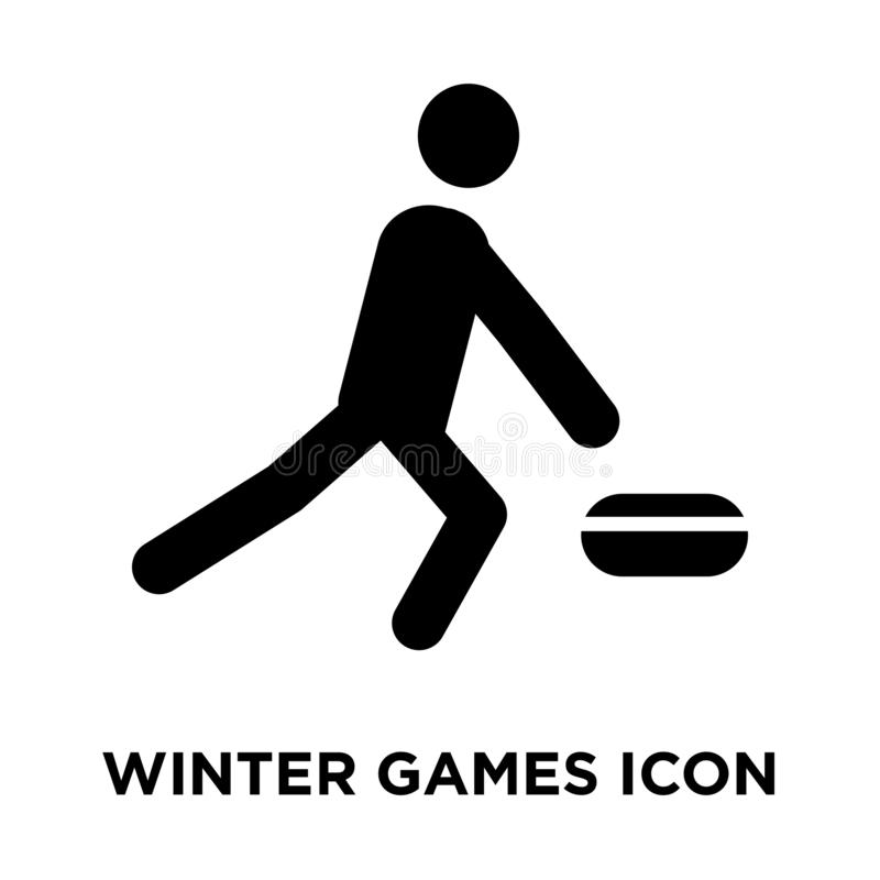 Winter Games icon vector isolated on white background, logo concept of Winter Games sign on transparent background, black filled stock illustration