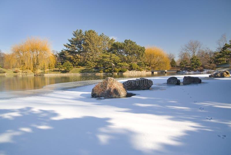 Winter garden royalty free stock photos