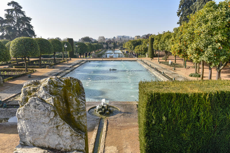 Winter garden in Cordoba royalty free stock images