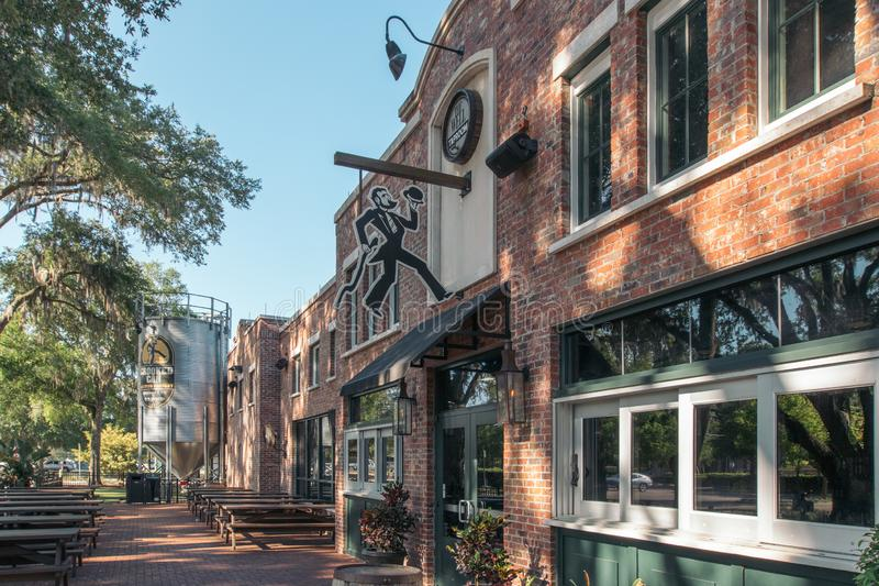 WINTER GARDEN, FLORIDA: MAY 29, 2019 - Plant Street Market a brick building featuring  local farm fresh food vendors, craft beer. WINTER GARDEN, FLORIDA: MAY 29 royalty free stock image