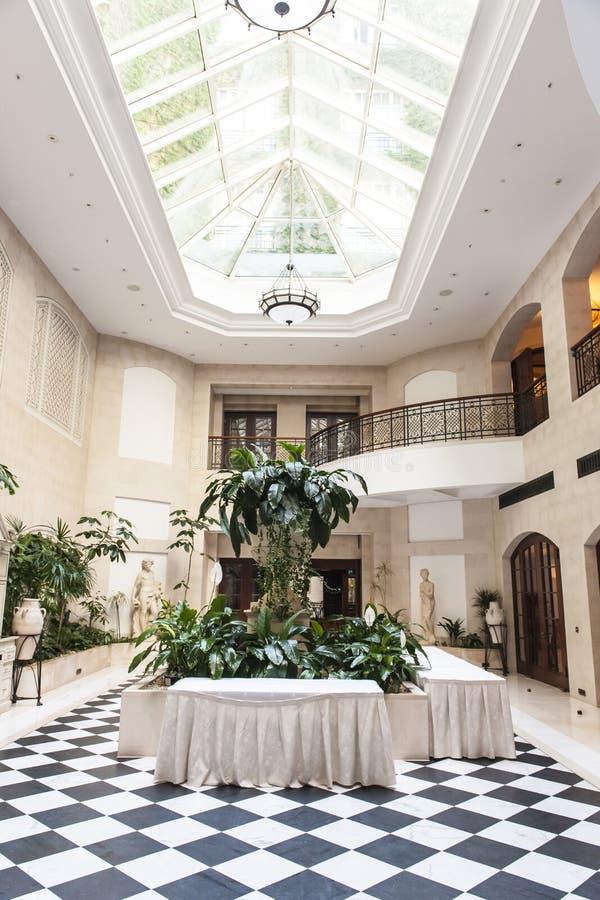 Winter garden Hotel Adlon Berlin stock photos