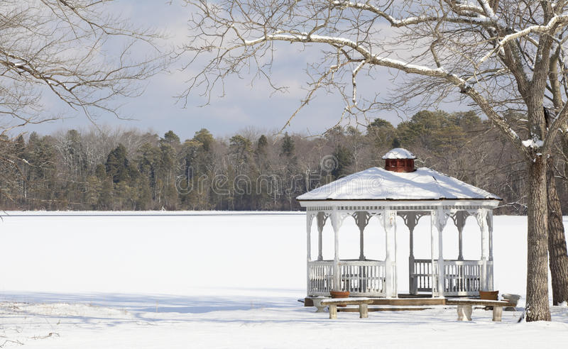 Download Winter Gazebo stock photo. Image of picturesque, canopy - 12541802