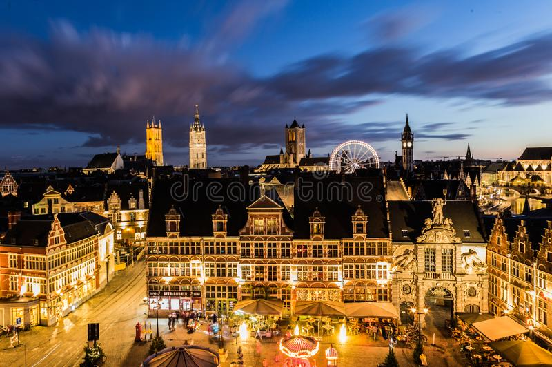 Winter in Ghent royalty free stock photography