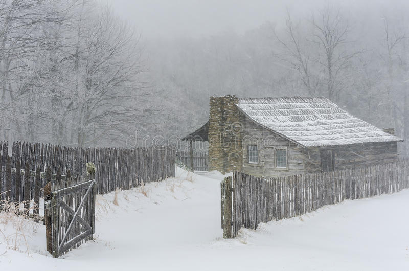 Winter, Gibbons farm, Hensley Settlement stock photo