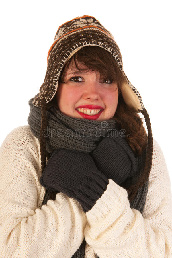 Download Winter girl stock image. Image of laughing, adult, whole - 26646959