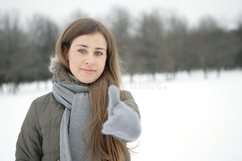 Winter girl. OK stock images