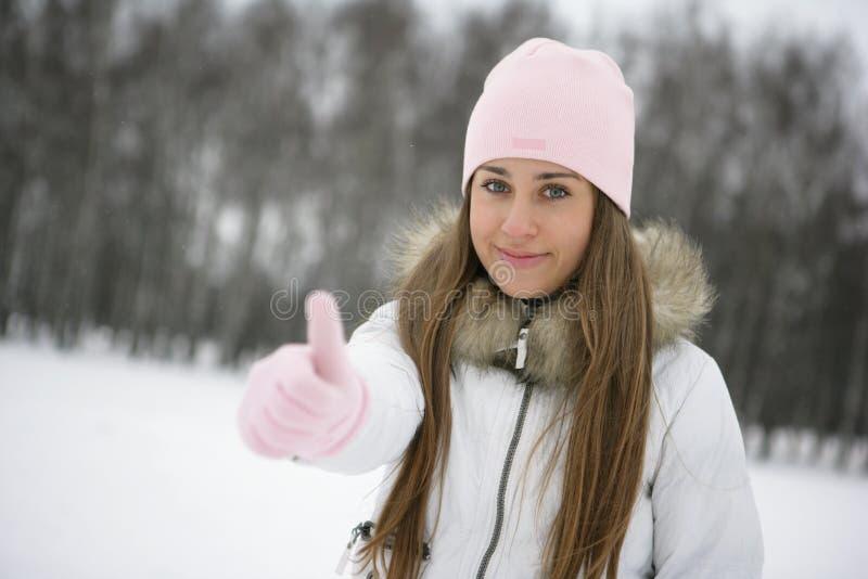 Winter girl. OK royalty free stock photo