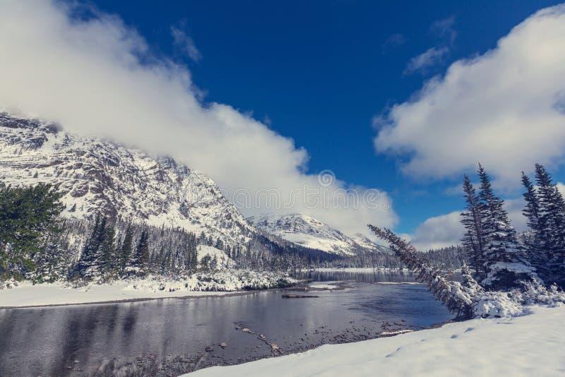 Winter in Glacier Park royalty free stock image