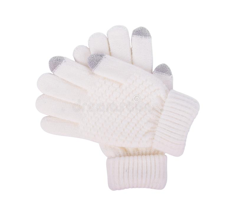 Winter Gloves isolated on a white stock photo