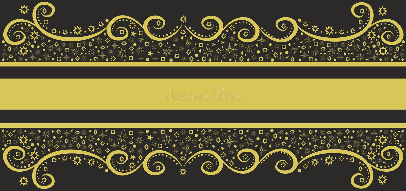 Winter gold pattern royalty free illustration