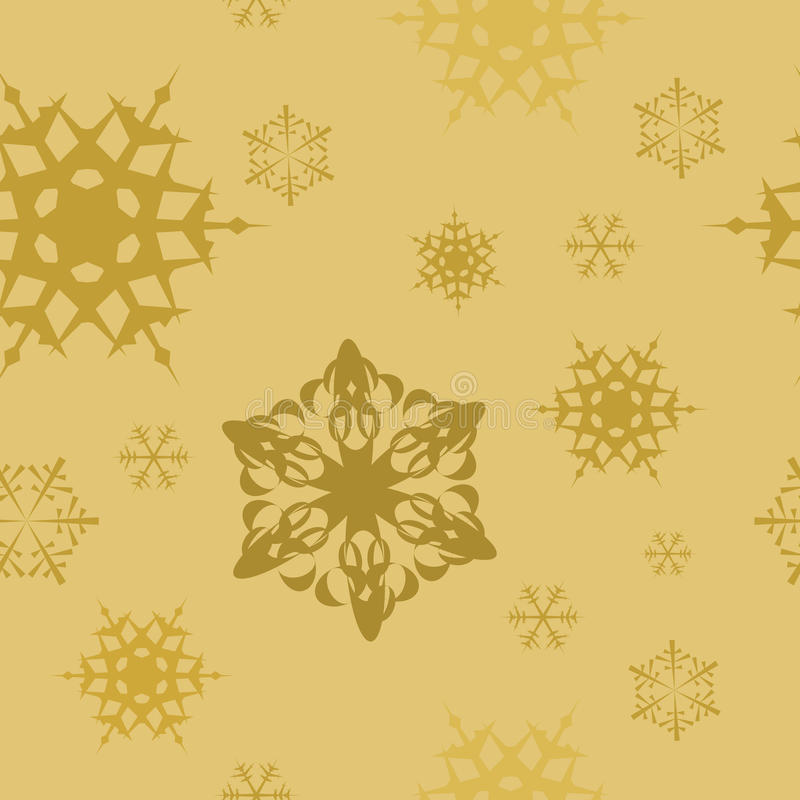 Free Winter - Golden Christmas Seamless Pattern Stock Photos - 10911083