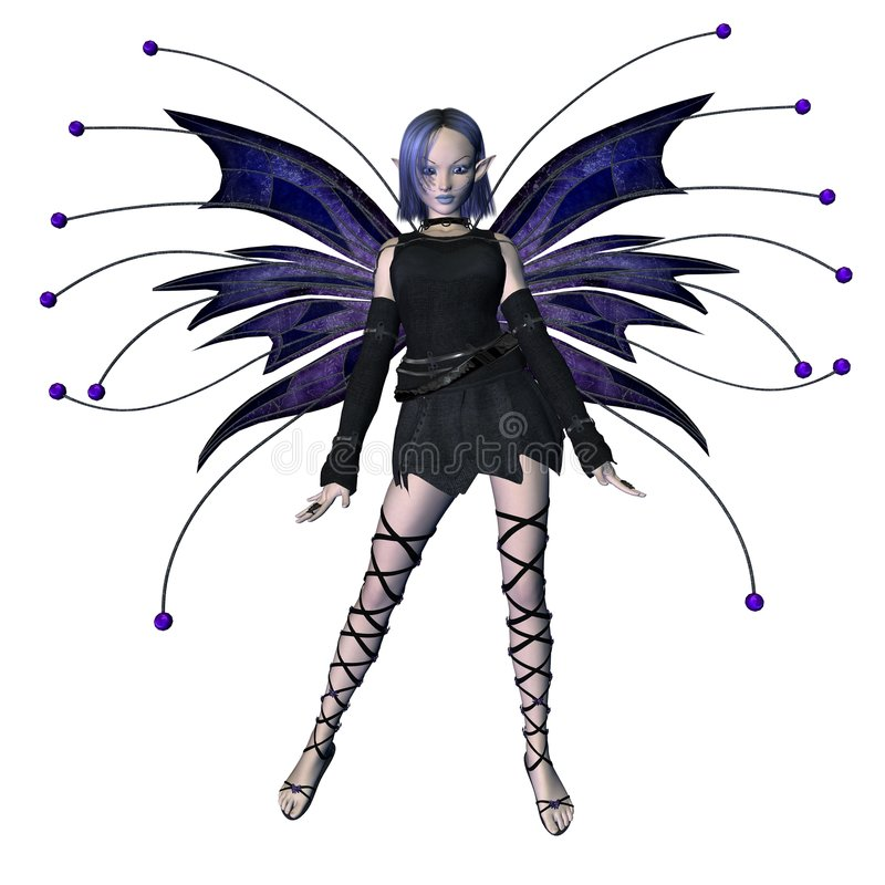 Winter Goth Fairy - 1 stock photography
