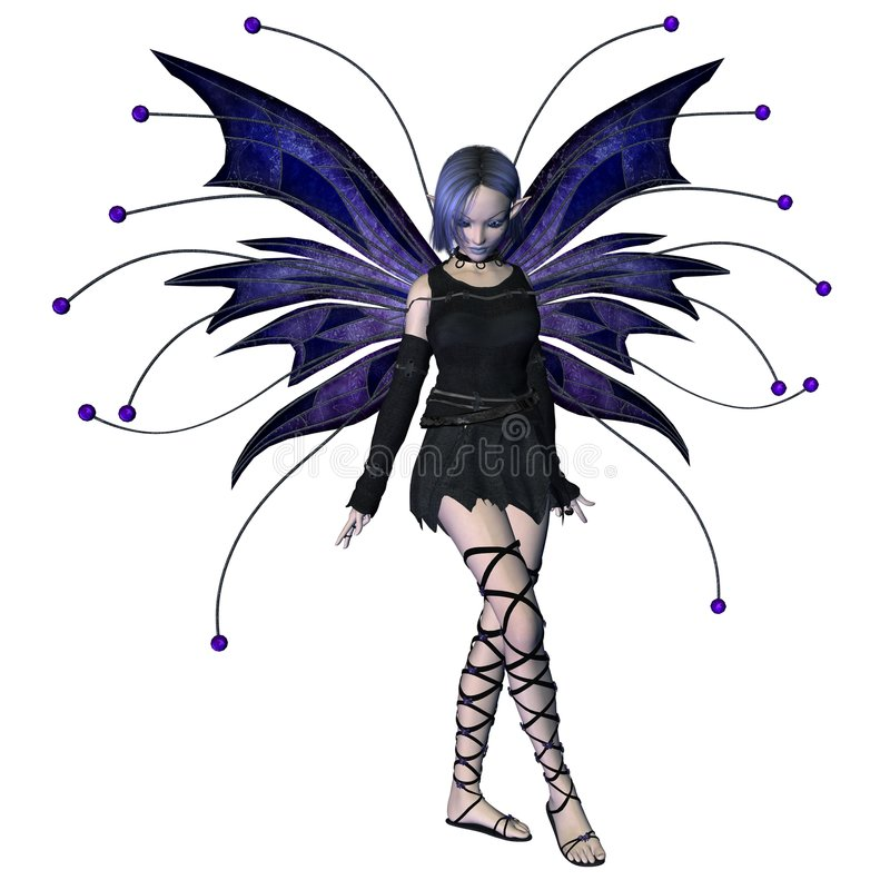 Winter Goth Fairy - 2 stock image