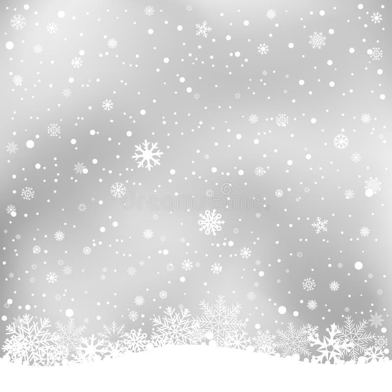 Winter gray background stock vector illustration of many