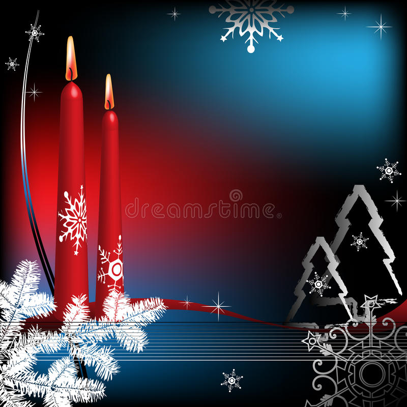 Download Winter Greeting With Candles Stock Vector - Illustration of background, abstract: 11043485