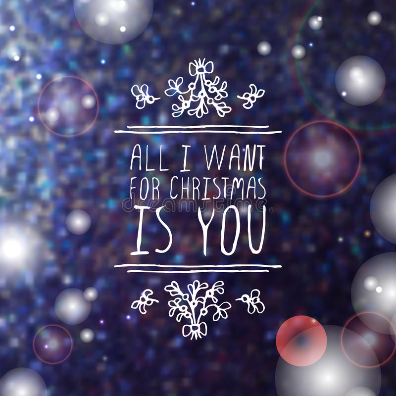 Free Winter Greeting Card With Text On Blurred Stock Photography - 63794742