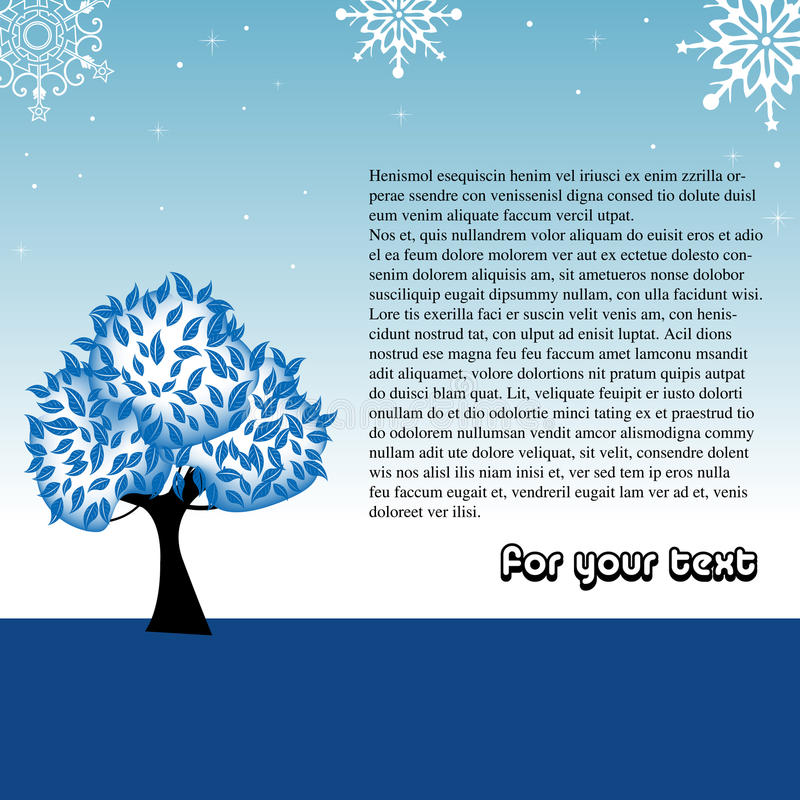 Download Winter greeting with tree stock vector. Image of concept - 10809773
