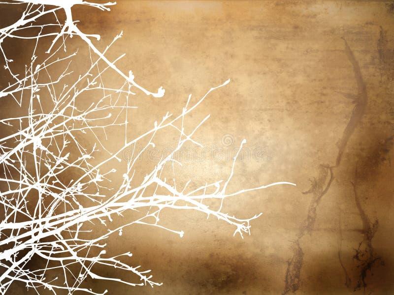 Winter Grunge Hintergrund lizenzfreie abbildung
