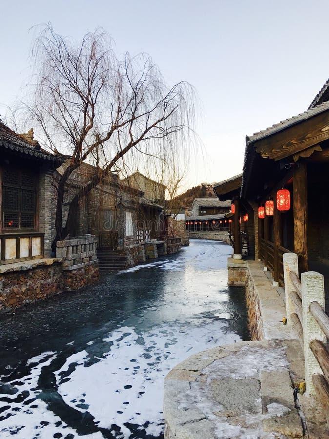 Winter in Gubei stock photos