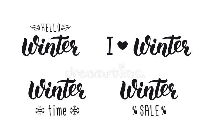 Winter handlettering set winter logos and emblems for invitation download winter handlettering set winter logos and emblems for invitation greeting card t m4hsunfo