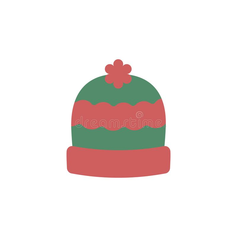 Winter hat color icon. Elements of winter wonderland multi colored icons. Premium quality graphic design icon royalty free illustration