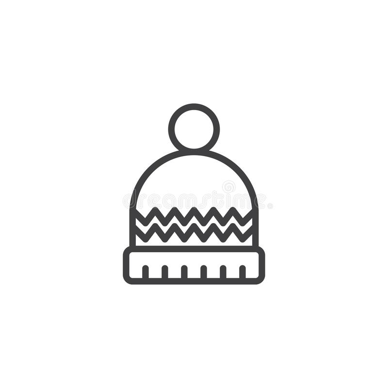 Winter hat outline icon royalty free illustration