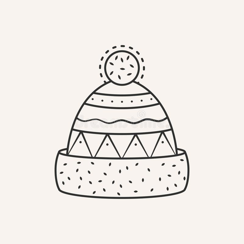 Winter hat. Vector illustration stock photos