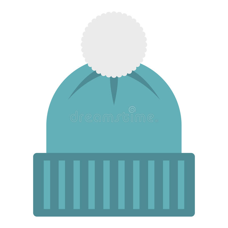 Free Winter Hat With Bell Icon, Flat Style Royalty Free Stock Image - 79587756