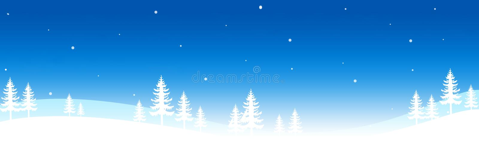 Download Winter Header / Banner stock illustration. Image of curl - 6407288