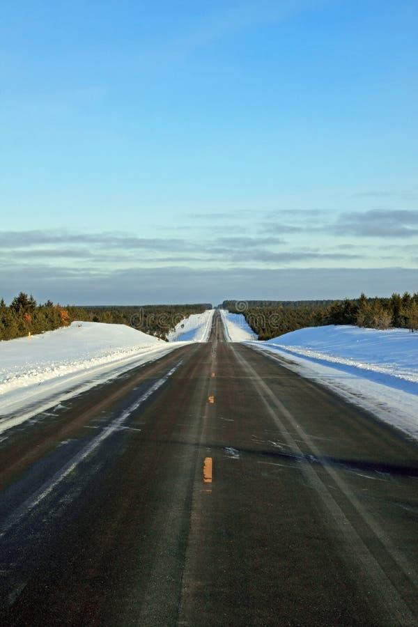 Download Winter Highway stock image. Image of rural, vertical - 12870075