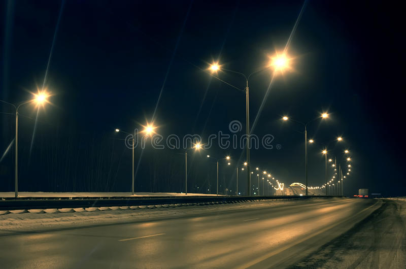 Winter highway royalty free stock image