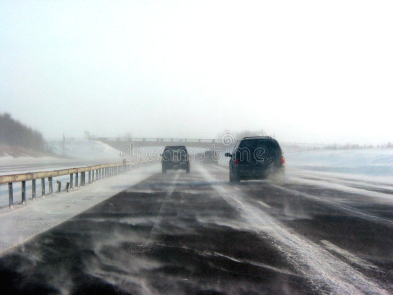 Download Winter Highway During Snow Storm Stock Photo - Image: 358776