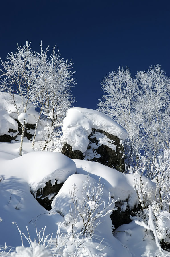 Winter hill stock photography