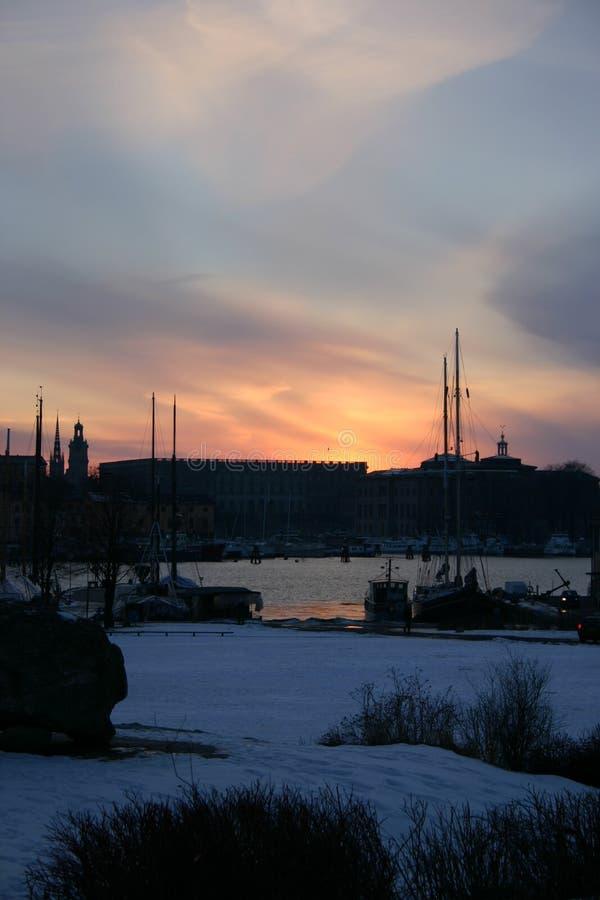 Winter-Himmel 1 stockbild