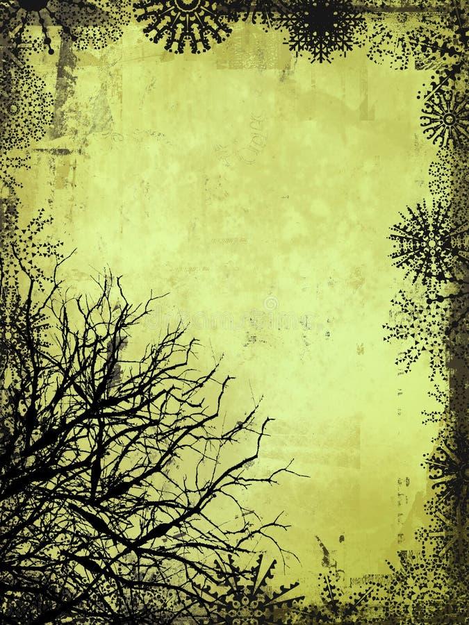 Winter-Hintergrund lizenzfreie abbildung