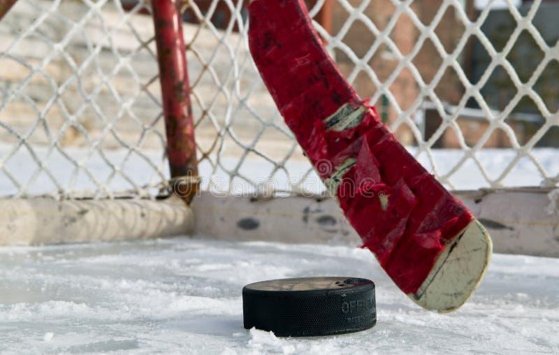 Winter-Hockey stockbilder