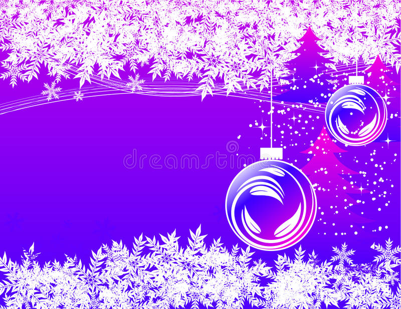 Download Winter holiday background stock vector. Image of balls - 12087360