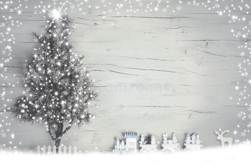 Winter holiday background with lights royalty free stock image