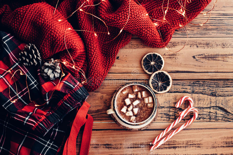 Winter holiday decor royalty free stock images