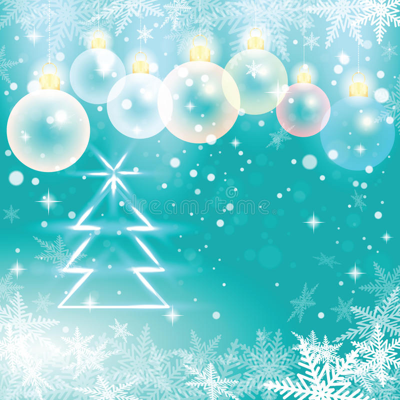 Free Winter Holiday Illustration Of Christmas Balls And Fir Tree. Royalty Free Stock Images - 46225639